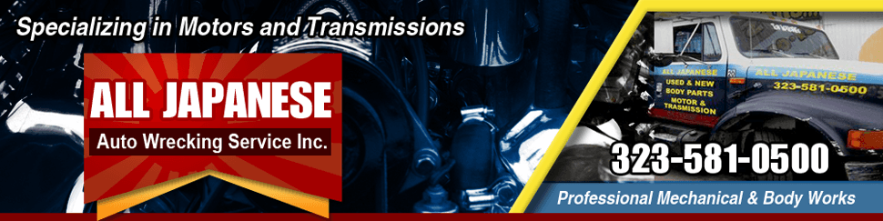 Japanese Engines - Los Angeles, CA - All Japanese Auto Wrecking Service Inc.