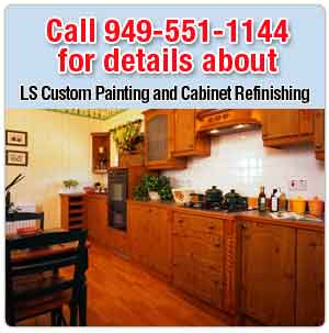 residential painting - Orange County, CA - LS Custom Painting and Cabinet Refinishing - Kitchen