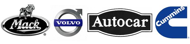 Mack, Volvo, Autocar and Cummins