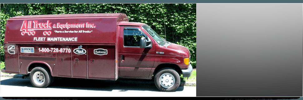 Truck repair shop service vehicle