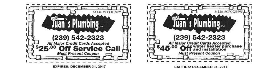 Juan's Plumbing Inc coupon