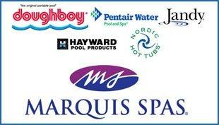 DoughBoy, Pentair Water, Jandy, Hayward, Nordic Hot Tubs, Marquis Spas