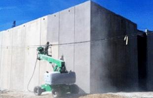 Concrete sandblasting