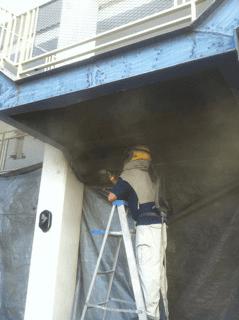 Commercial sandblasting