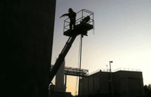 Industrial sandblasting