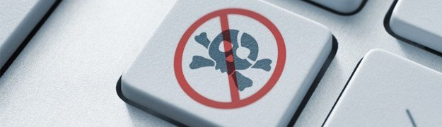 virus symbol on keyboard