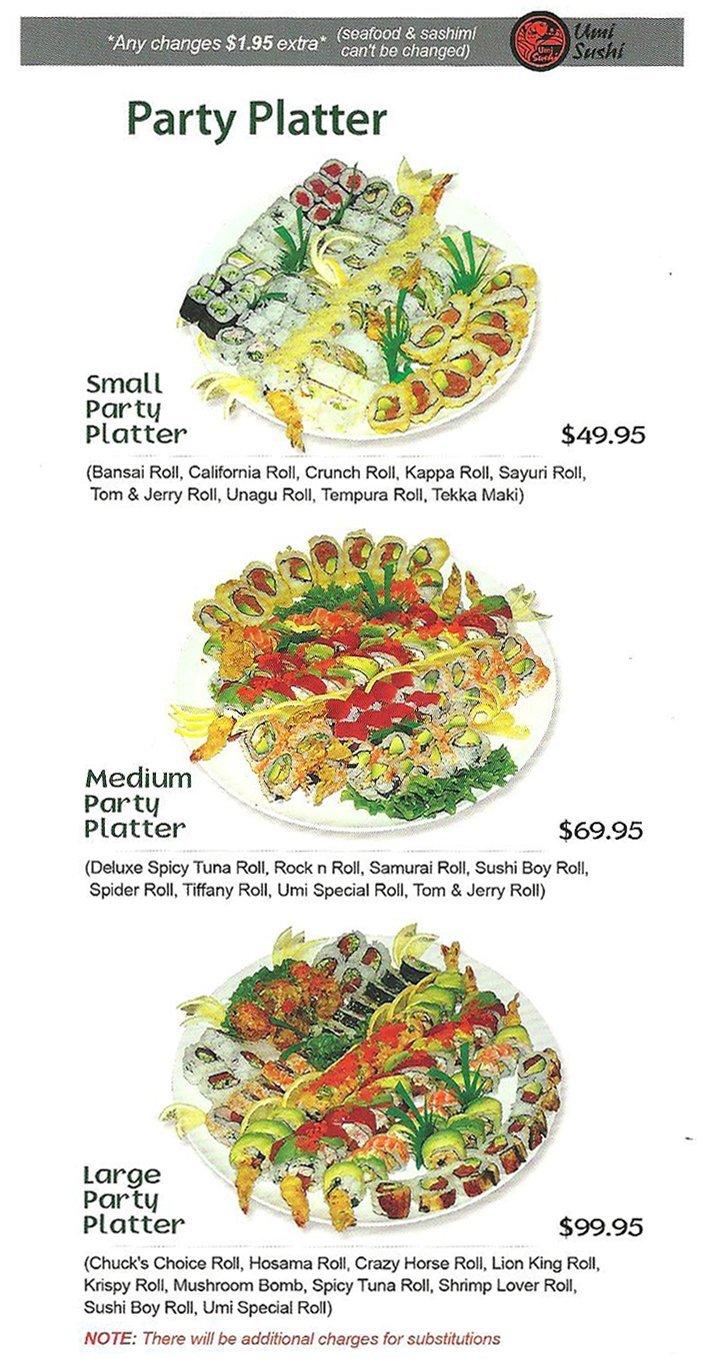 Umi Sushi Party Platter