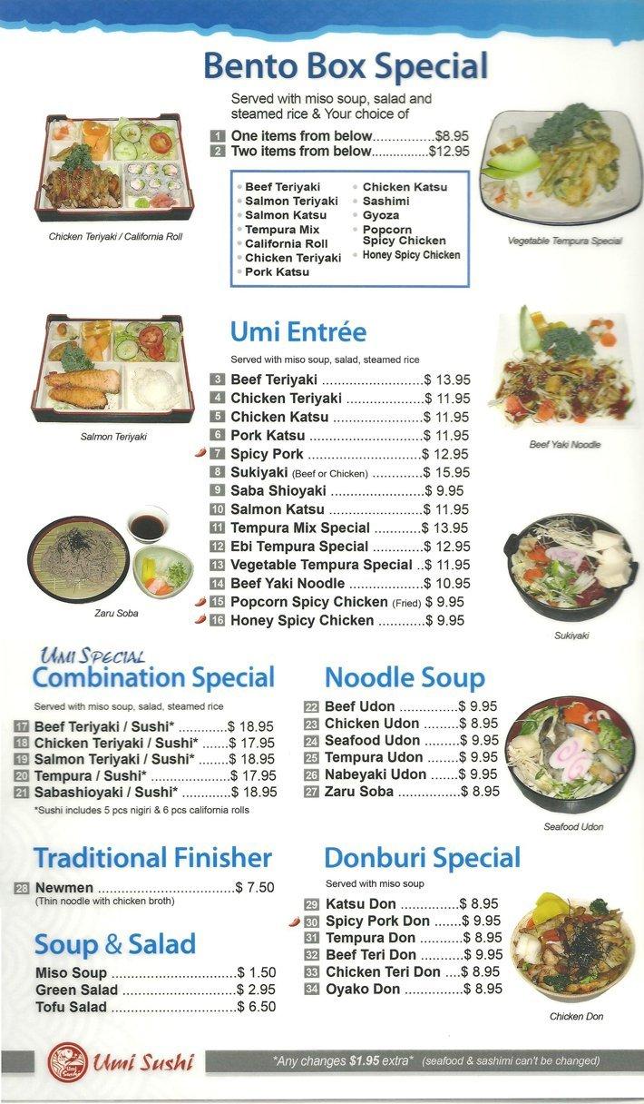 Lunch, Dinner | Modesto, CA | Umi Sushi | 209-622-0806