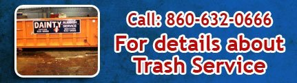 Small trash containers - Middleton, CT  - Dainty Rubbish Service Inc.- Call: 860-632-0666 -For details about our Trash Services