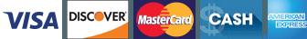 Visa Discover Mastercard Cash American Express
