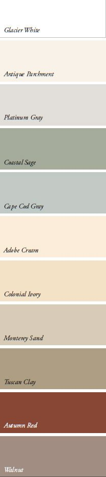 steel siding color palette