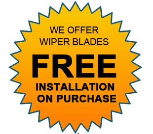 WE OFFER WIPER BLADES | FREE INSTALLATION ON PURCHASE