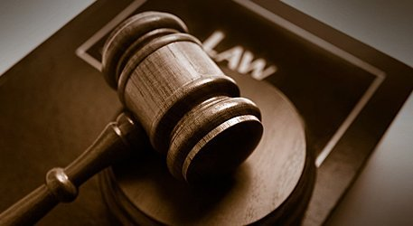 Legal book and gavel
