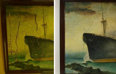 Oil Painting Restoration | Forked River, NJ | Forked River Framing | 609-971-6297