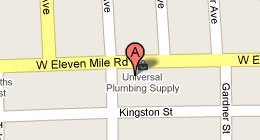 Universal Plumbing Supply - 14511 11 Mile Rd Oak Park, MI 48237