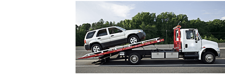 Truck towing a car