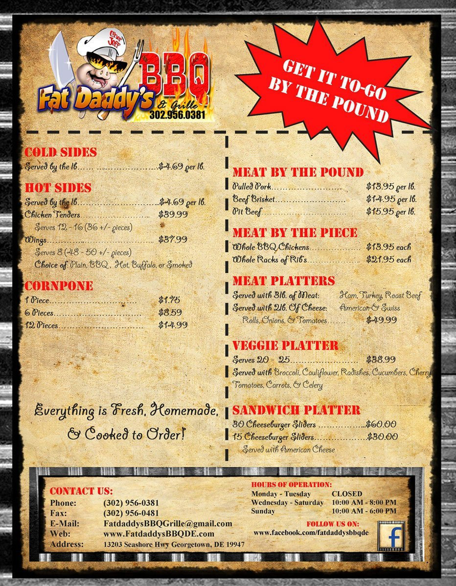 Fat Daddy's BBQ | Georgetown, DE | 302-956-0381