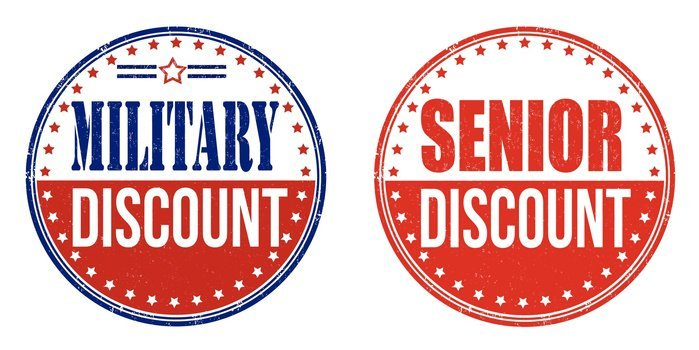 Military and Senior Discount