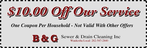 B & G Sewer & Drain Cleaning Inc Coupon