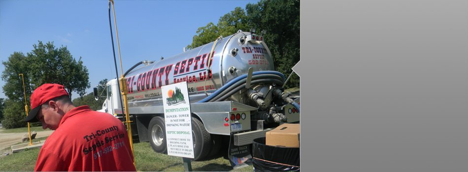 Septic Services, Septic Tank Maintenance, Areas Serviced | Cement City, MI | Tri-County Septic Service LLC | 517-592-2711