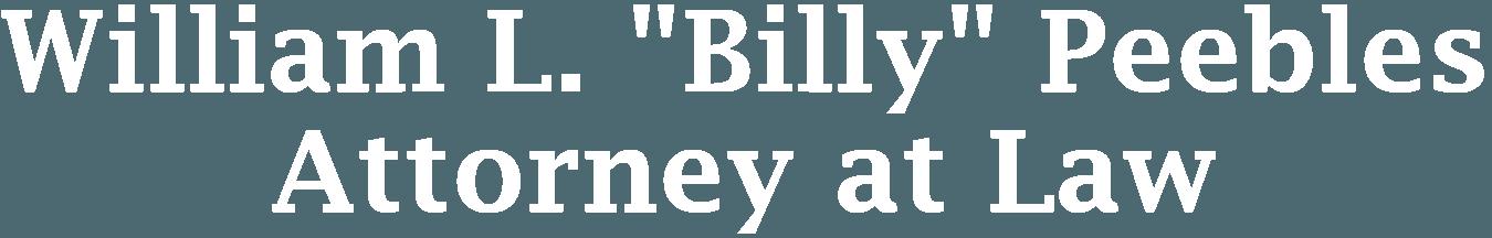 William L. Billy Peebles Attorney at Law - logo
