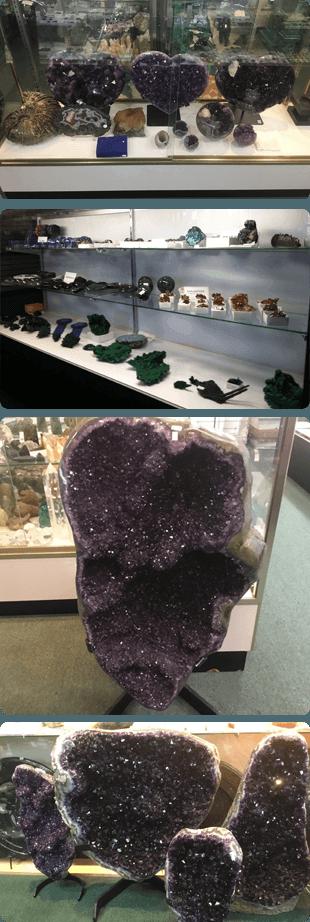 Minerals on a shelf