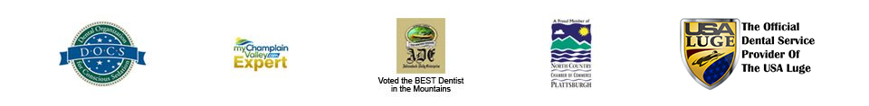 Dental Organization for Conscious Sedation - My Champlain Valley Expert - Voted Best in the Mountains - North Country Chamber of Commerce Plattsburgh - The Official Dental Service Provider of the USA Luge