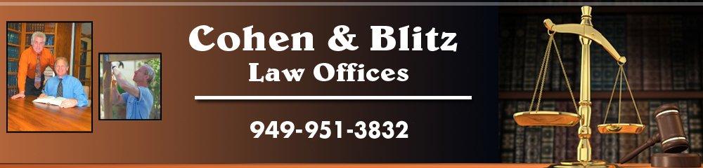 Lawyers - Laguna Hills, CA - Cohen & Blitz Law Offices