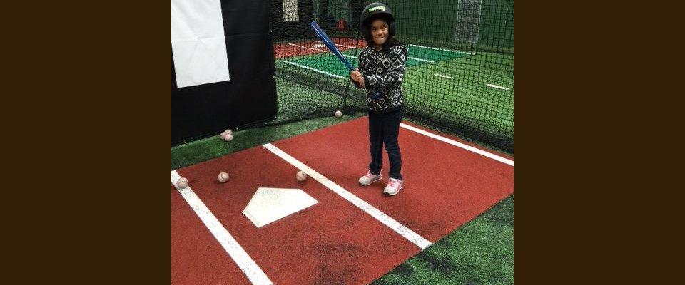 Baseball training for kid