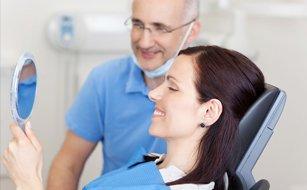 Girl in dental clinic