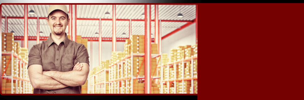 Worker on storehouse