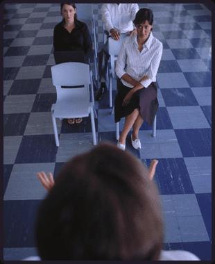 Woman applying for jobs
