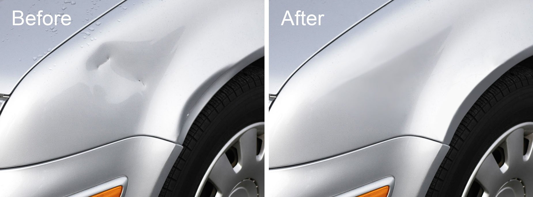 Dent Removal (Before & After) restoration