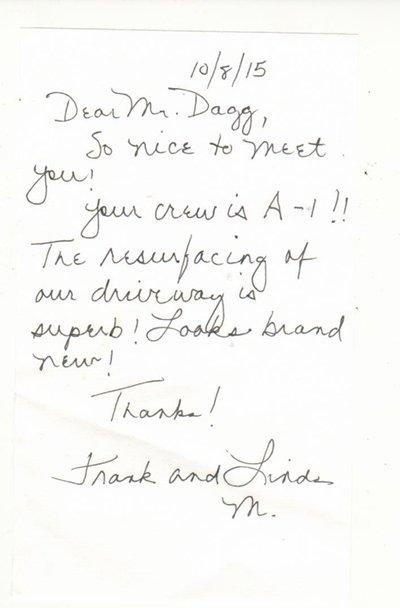 Testimonial | Tim Dagg's Asphalt & Sealcoating | Eastlake, OH