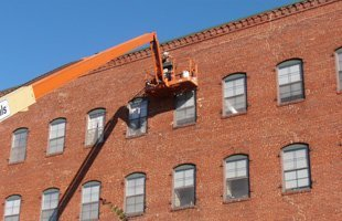 Masonry restoration commercial building