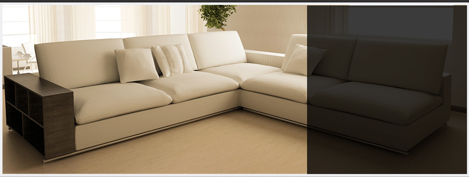 White custom made couch