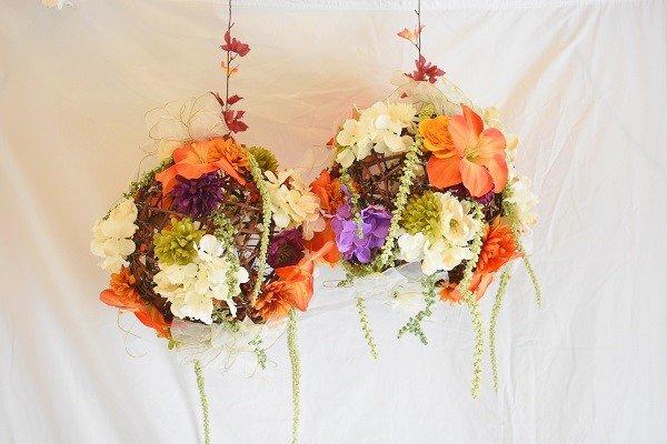 Hanging Wicker Floral Balls