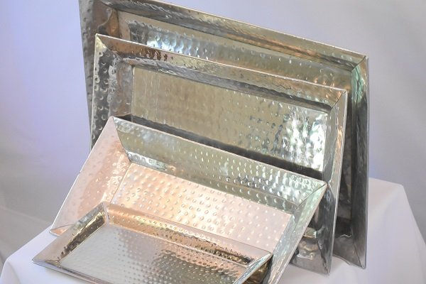 Hammered Steel Trays