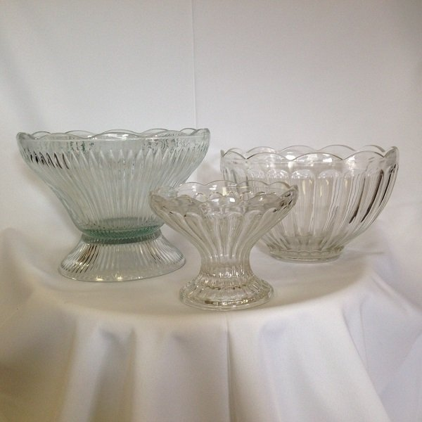 Glass Punch/ Serving Bowl