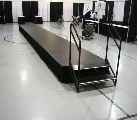 Stage Skirting and Stairs
