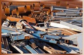 Metal tubes and metal scraps