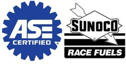 ASE and Sunoco Race Fuels logo
