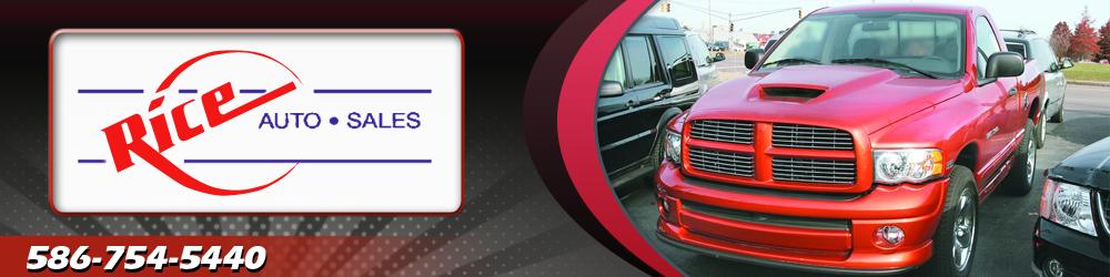 Rice Auto Sales >> Car Dealer Center Line Mi Rice Auto Sales