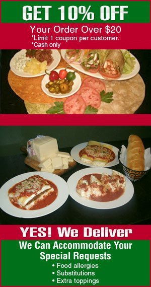Hot and Cold Heroes, Egg Omelets and Wraps - New Rochelle, NY - Terranova Brick Oven Pizzeria & Restaurant