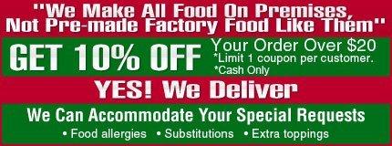 Take-Out - New Rochelle, NY - Terranova Brick Oven Pizzeria & Restaurant