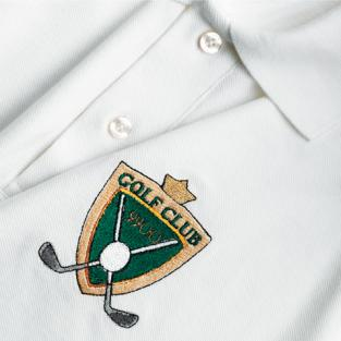 White polo with embroidered