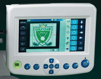 Control screen of Elna eXpressive 940