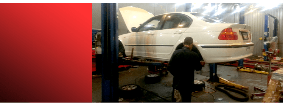 Car being inspected