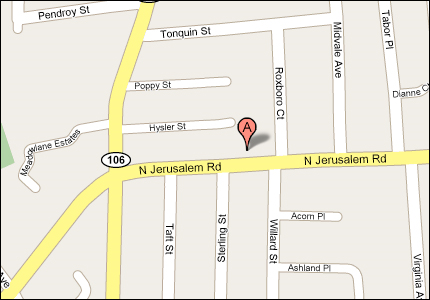 Active Auto Glass, Inc. Location Map - 2507 North Jerusalem Road  East Meadow, NY 11554