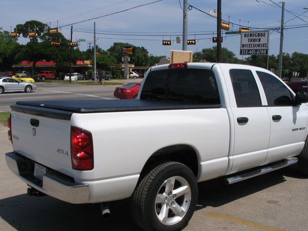 White truck with cover